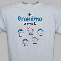 Personalized Grandparent Belongs to T-Shirt