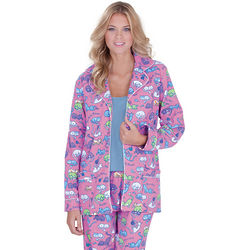 Cat Nap Pink Flannel Pajamas
