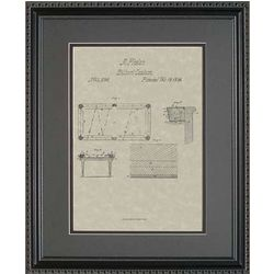 Pool Table Framed Patent Art Print