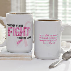 Fight to Find the Cure Personalized Coffee Mug