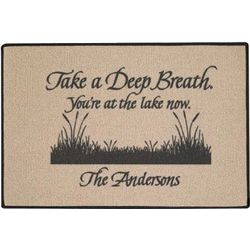 Take a Deep Breath Personalized Doormat