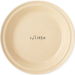 I Eight Sum Pi Pie Dish