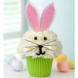 Cupcake in Bloom Easter Buuny Arrangement