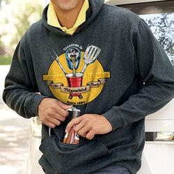 Personalized Tailgating Sweatshirt with Bottle Opener