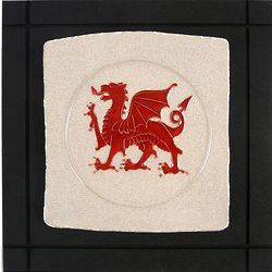Welsh Dragon Ceramic Wall Art Tile