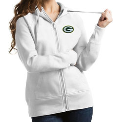 Packers Victory Ladies White Full Zip Hoodie