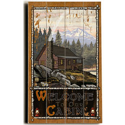 Cabin in the Woods Personalized Sign