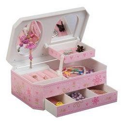 Rose Glitter-Daisy Musical Ballerina Jewelry Box