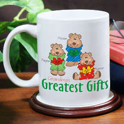 Greatest Gifts Personalized Christmas Coffee Mug