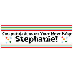 New Baby Personalized Banner