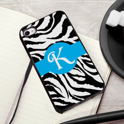 Zany Zebra iPhone Case with Black Trim