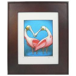 Spoonbills Framed Print