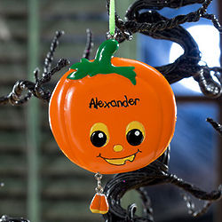 Halloween Pumpkin Personalized Ornament