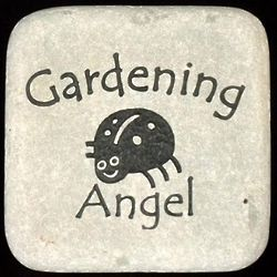Good Luck Ladybug Gardening Rock