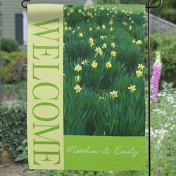 Field of Flowers Personalized Garden Flag
