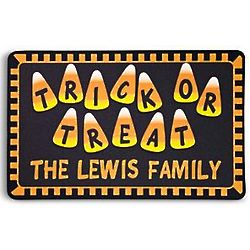Personalized Trick or Treat Halloween Doormat