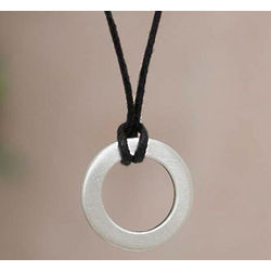 Men's Sterling Silver Perfect Circle Necklace