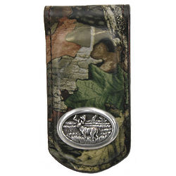 Camouflage Leather Magnetic Money Clip