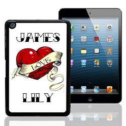 Heart Tattoo Personalized iPad Mini Case