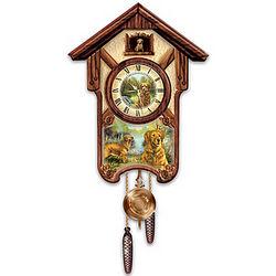 Gentle Golden Retrievers Cuckoo Clock