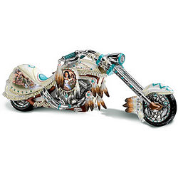 Dream On Native American-Inspired Chopper Figurine