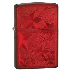 Iced Leaves Candy Apple Red Zippo Lighter
