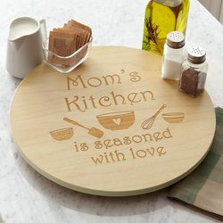 Personalized Seasoned with Love Lazy Susan