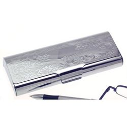 Personalized Scroll Design Eyeglass Case