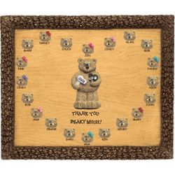Personalized Hair Beautician Bears on Plaque