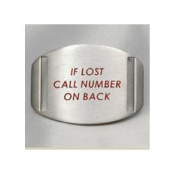 If Lost Call ID Bracelet