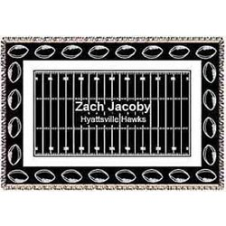 Personalized Football Afghan