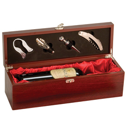 Wooden Wine Presentaion Box with Accessories