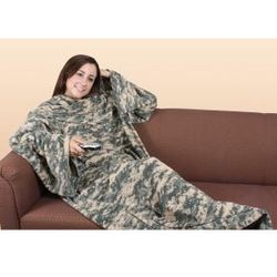 Army Digital Camo Blanket with Sleeves