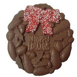 Chocolate Happy Holidays Wreath