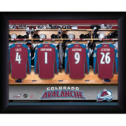 Personalized NHL Colorado Avalanche Locker Room Print
