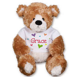 Personalized All Hearts Teddy Bear