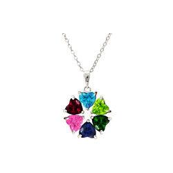 Heart's Desire 6 Stone Custom Birthstone Mother's Necklace