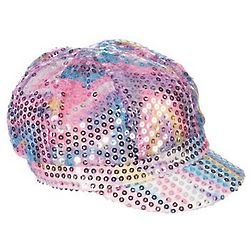 Rainbow Sequin Newsboy Hat