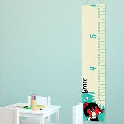 Personalized Retro Gal Height Chart