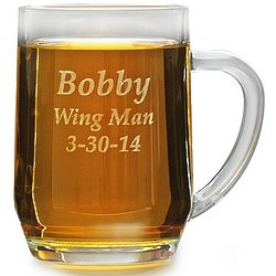 Personalized 20-Ounce Barrel Mug with Handle