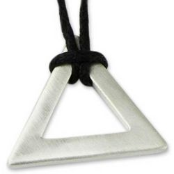 Men's Perfect Triangle Sterling Silver Necklace