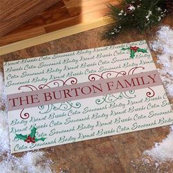 Our Family Personalized Christmas Doormat