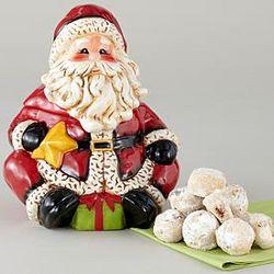 Santa Cookie Jar with Meltaway Cookies