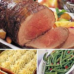 Elegant Leg of Lamb Dinner