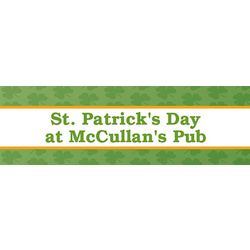 Luck of the Irish 30x82 Personalized Vinyl Banner