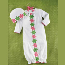 Daisy Crochet Baby's Sleep Gown Set