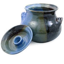Handmade Lakeside Glaze Stoneware Bean Pot