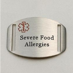 Medical ID Plaque for Persons with Severe Allergies