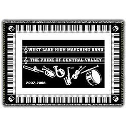 Personalized Band Keyboard Afghan