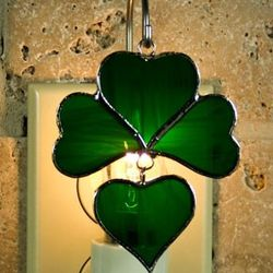 Shamrock Stained Glass Ornament